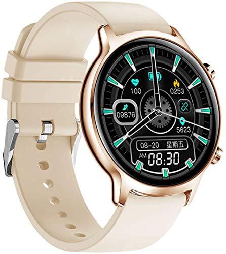 Smartwatch für Damen, schwimmend, wasserdicht, Herzfrequenz, Armband für Android iOS-E