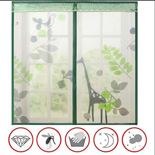 Moustiquaire Fenêtre Magnétique Blanche de Rideau de Moustiquaire Aimant pour Fenêtre Empêche de Passer Les Moustiques et Autres Bestioles - Marron, Vert
