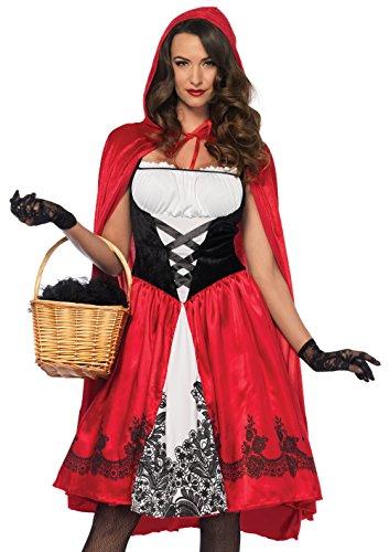 LEG AVENUE 85614 - Kostüm Set Klassische Rotkäppchen, Damen Fasching, S, Rot