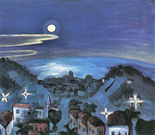 Das Museum Outlet–Barcelona (View of the City by Night) von Walter Gramatte, gespannte Leinwand Galerie verpackt. 147,3x 198,1cm