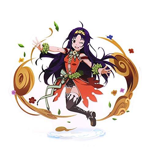 QINGQING Figura acrílica Espada Arte en línea Konno Yuuki Japón Anime Soporte Miniatura