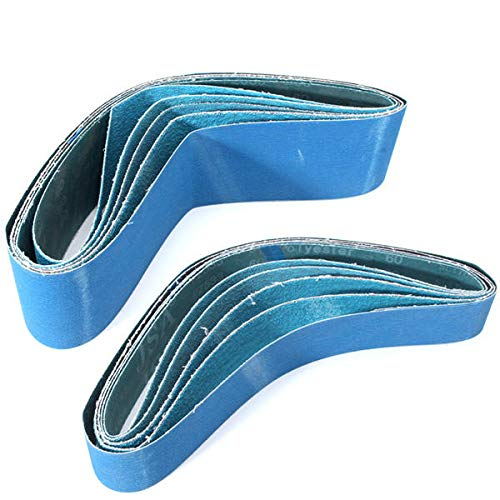 Papel de arena 5pcs 914x50 / 100mm Cinturones de lijado Zirconia Cinturones abrasivos 40/60/80/120 Cinturón de lijado de grano para la molinadora de molinillo de preparación de (Color : 100mm)