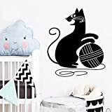 Art Cat Wall Art Decal Wall Sticker Mural Impermeable Wall Decal Home Party decoración Wallpaper 33X39cm