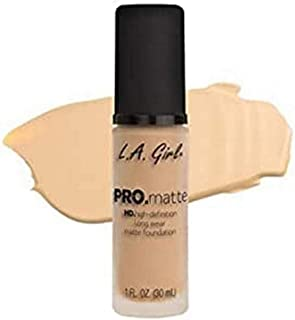 L.A.Girl Pro Mattte Hight Definition Long Wear Matte Foundation 30ml, Ivory, GLM671