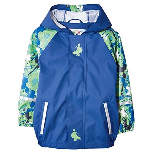 Regenjas voor kinderen, waterdicht, softshelljack, voor jongens en meisjes, regenponcho, outdoorjack voor school, voetbalwandelingen, roze hemelsblauw, marineblauw
