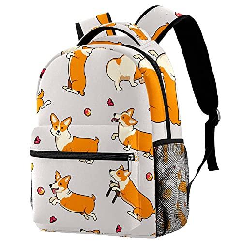 Casual Daypack Zaini Cane Modello Zaino per le Donne Bookbag Capacità Viaggio Spalle Borse, Multicolore -4,