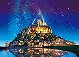 500ピース エポック(EPOCH) ジグソーパズル めざせ パズルの達人 世界の絶景 星空のモン サン ミシェル-フランス(38x53cm)