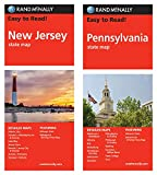 Rand McNally State Maps: New Jersey and Pennsylvania (2 Maps)