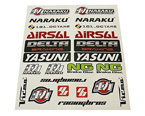 Stickers Jeu de 29 x 34 cm 22 pièces Transparent