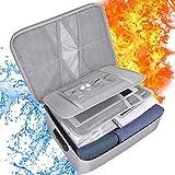 Sac Ignifuge, papasbox Sac de Document Ignifuge avec Serreur à Combinaison, Parfait Protection pour Documents...