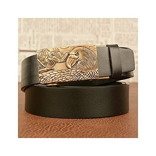 GHRFZC Los Hombres De La Moda Cinturón Animal Eagle Alivio Retro Reloj Automático Personalidad Casual Cinturón Personalidad De Cinturón Casual Tejido Sencillo Casual Cinturón Jeans Cintura, Cinturó