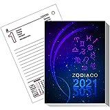 Blocco agenda almanacco zodiaco ricambio 2021 (CARTA BIANCA) 8,5x11,6 ricambio agenda da tavolo