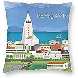 DayToy Vintage Reise Welt Reykjavik Skyline Art Poster 1