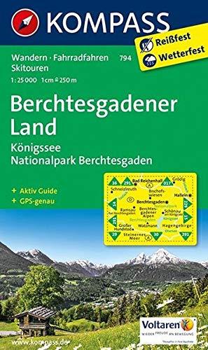 Berchtesgadener Land - Königssee - Nationalpark Berchtesgaden: Wanderkarte mit Aktiv Guide, Radrouten und Skitouren. GPS-genau. 1:25000: Wandelkaart 1:25 000 (KOMPASS-Wanderkarten, Band 794)