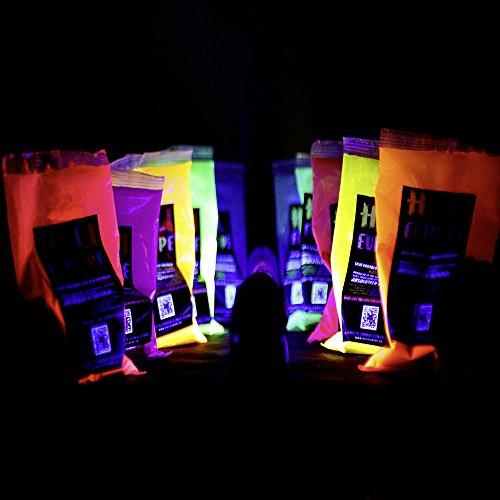 10 x NEON Holi Pulver - Festival Farbbeutel - Fotoshooting 10 Faben LEUCHTEN
