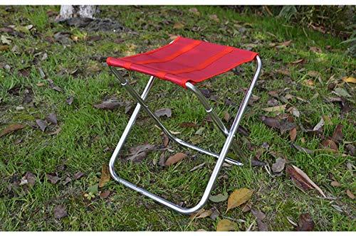 LRQHZYQ Outdoor Heavy Duty Draagbare opvouwbare campingstoel, lichtgewicht frame ondersteunt tot 100 kg belasting – UV-bestendig en weerbestendig