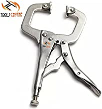 ToolsCentre TC-331-A Stainless Steel C and D Type Welding Clamp Locking Plier (11 inch)