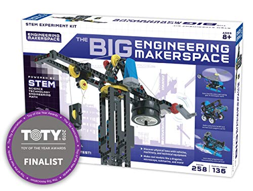 Product Image of the Thames & Kosmos Big Engineering Makerspace | Science Kit | 22 Physics Lessons &...