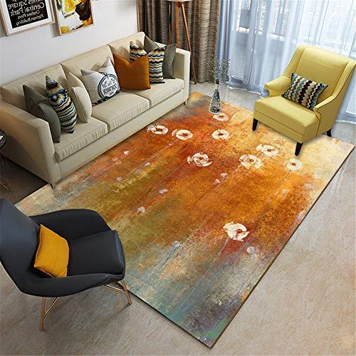 cuadros cabecero cama matrimonio alfombras infantiles niña Alfombra de habitación infantil color naranja, resistente a la suciedad, al desgaste y al deslizamiento alfombra recibidor 120X160CM