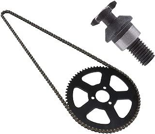 Flameer 68 Links Chain 25H 68 Teeth Rear Sprocket + T8F 6T Front Sprocket Pinion for 2 Stroke 49cc Mini Pocket Bike Motor