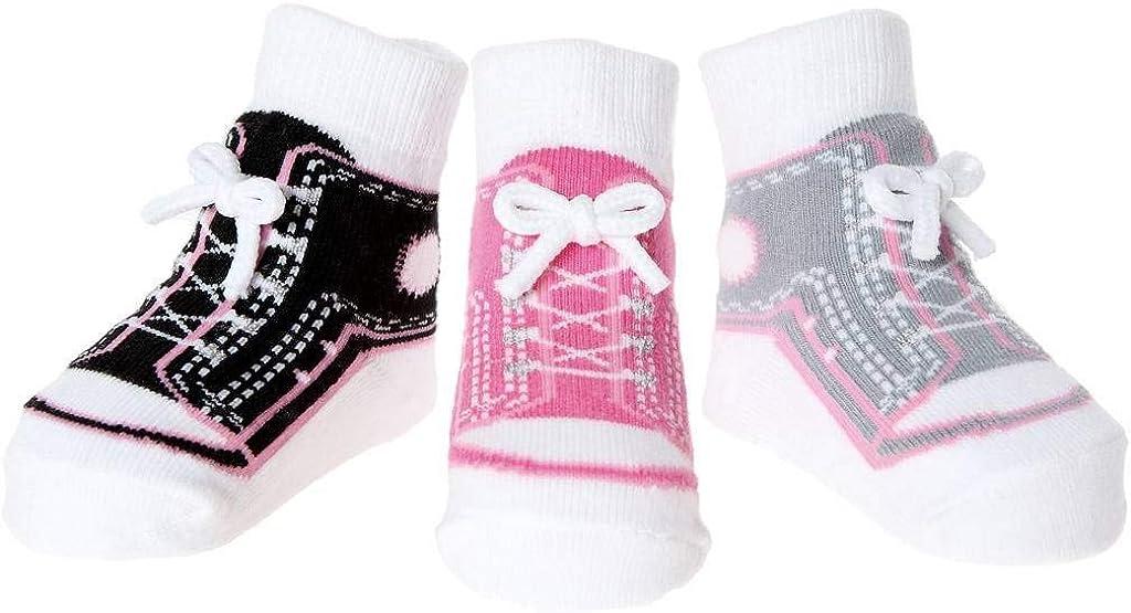 Baby Emporio 3 pares de calcetines para bebé niña - Suelas antideslizantes - Efecto zapatos - Embalaje de Regalo