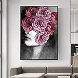 ganlanshu Pintura sin Marco Chica con Flores de Arte Abstracto de Pared sobre Lienzo y decoración de Pared de Arte Pop ZGQ6791 40X60cm