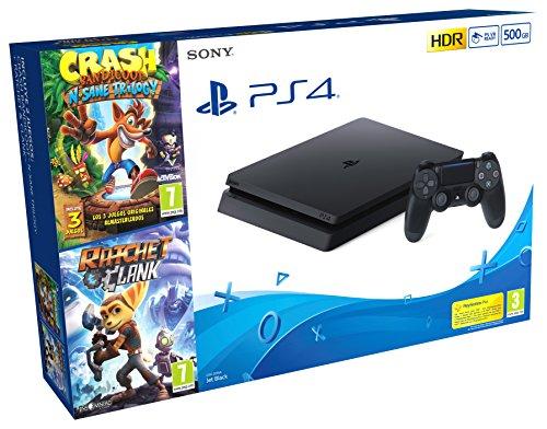 PlayStation 4 (PS4) - Consola de 500 GB + Crash Trilogy + Ratchet