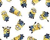 CraftsFabrics Minions Gang Baumwollstoff - 100% Baumwolle,