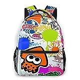 Splatoon 2 Kids School Backpack for Girls Boys Creative Lightweight Daily Backpack Middle Elementary Daypack Book Bag