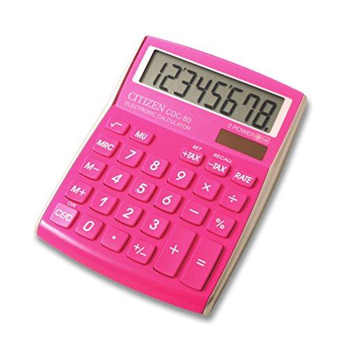 Citizen CDC-80PK Tischrechner Color Pink CDC80PKWB