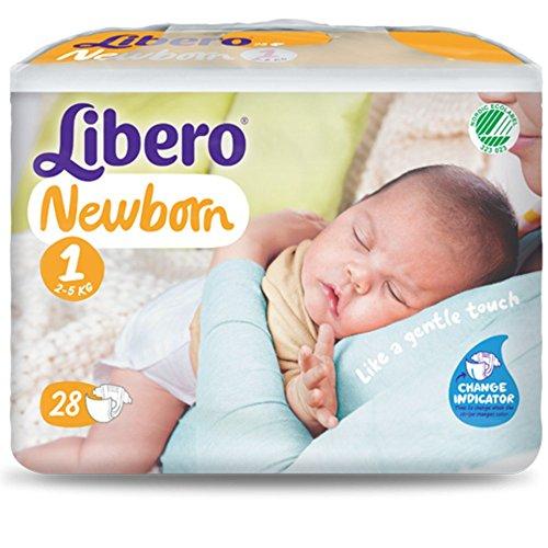 Pannolini Libero Newborn Misura 1 - Kg 2/5-112 pezzi (4 pacchi da 28)
