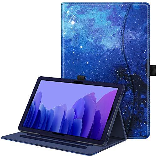 FINTIE Funda para Samsung Galaxy Tab A7 10.4' 2020 - Carcasa Fina de Multiángulo con Bolsillo Función de Auto-Reposo/Activación para Modelo de SM-T500/T505/T507, Cielo Estrellado