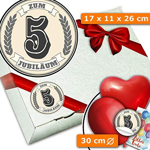 Zum 5. Jubiläum + Geschenkschachtel + Geschenk 5 Hochzeitstag Freunde