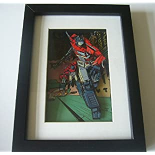 Transformers Optimus Prime 3D Diorama Shadow Box Art 9 x 7