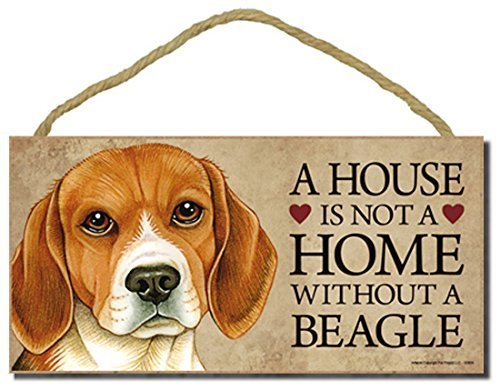 Beagle Dog Sign with Personalization Kit a House is Not a Home Without a Beagle by SJT.