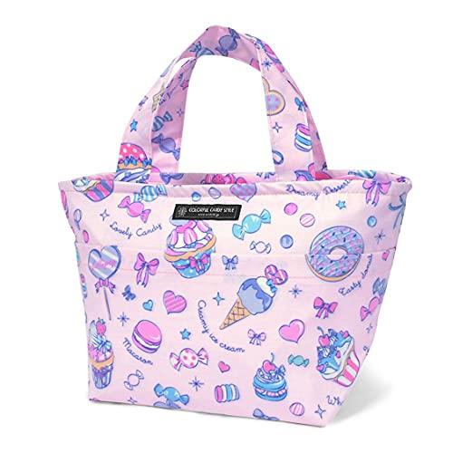 抗菌ランチトート お弁当バッグ トートバッグ サブバッグ ミルキースイーツのキャンディアラモード ND401900 ピンク