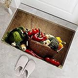 Alfombrillas de Moda con Estampado de Frutas, Alfombrillas absorbentes de Cocina, Alfombrillas de decoración del hogar, alfombras Antideslizantes para baño A5 40x60cm