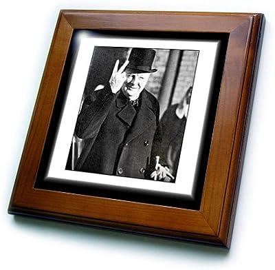 8 by 8-Inch 3dRose ft/_3743/_1 Abraham Lincoln Framed Tile