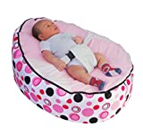MamaBabaBebe Baby Bean Bag snuggle bed bouncer with Safety Harness & 2 Removable Covers