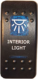 E Support™ 12V Auto KFZ Blau LED Lichtleiste Beleuchtet Wippenschalter Kippschalter Auto Armaturenbrett Schalter Interior Light