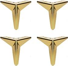 4 stks metalen meubels benen, driehoek diamant meubels voeten metalen bank benen geschikt voor kast, bank, salontafel, tv-...