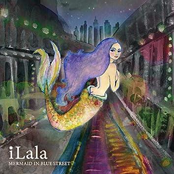 Mermaid in blue street