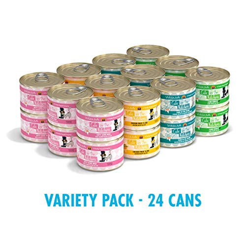 Weruva Cats In The Kitchen, Variety Pack, Kitchen Cuties, Wet Cat Food By, 6Oz Cans (Pack Of 24)