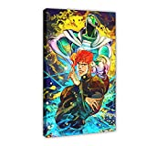 Green Crusader Jo's Bizarres Adventures Anime Canvas Poster Wall Art Decor Cuadros para Sala Dormitorio Decoración Marco Estilo 124 × 36 pulgadas (60 × 90 cm)
