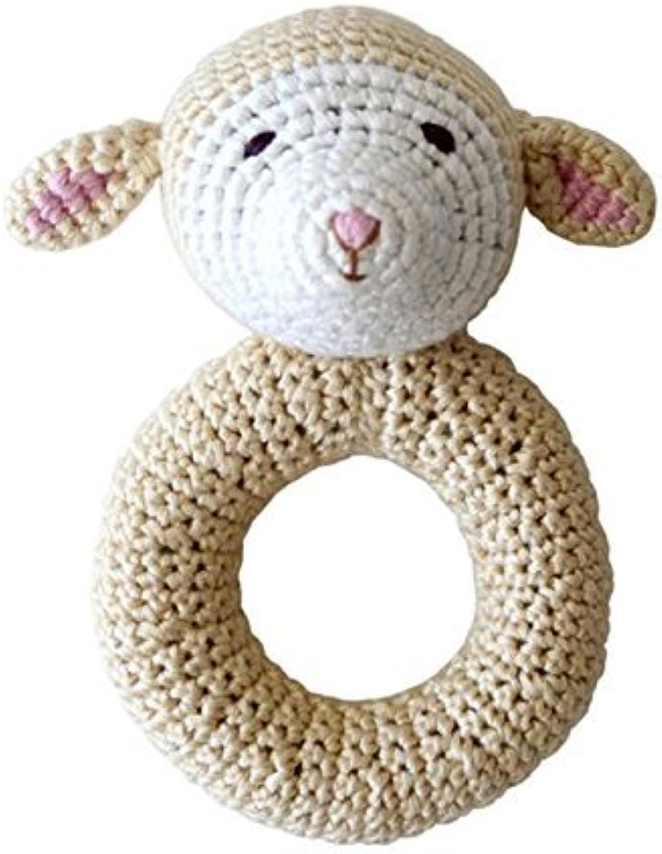 ahorra 50% -75% de descuento Organic Baby Juguetes - Cheengoo Lamb Ring Ring Ring Rattle by Cheengoo  venta de ofertas