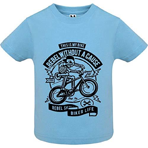 LookMyKase T-Shirt - Rebel Without a Cause - Bébé Garçon - Bleu - 12mois
