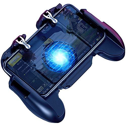SONGVEN Mobile Controller & Cooling Fan & Battery for PUBG Mobile Game Controller Joystick Mobile Gaming Trigger for Android Controller Mobile Gamepad Phone Game Controller Joypad (2000 mAh)