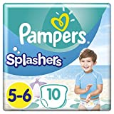 Pampers Splashers - Pañales desechables (10 unidades, talla 5-6)...
