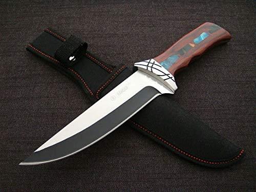 300mm großes & stabiles edel Jagdmesser Jäger Messer - Outdoor- Survival- Messer - Hunting Knife - Perlmuteinlage und Verziertes Parierelment - Ink. Etui