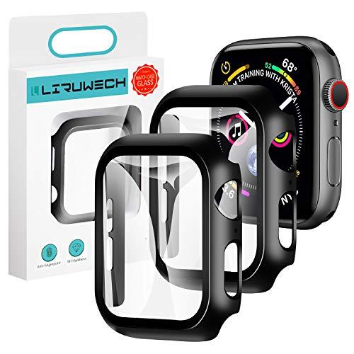 LIRUWECH Apple Watch 用ケース 42mm アップルウォッチ保護ケース ガラスフィルム 一体型 アップルウォッチ...